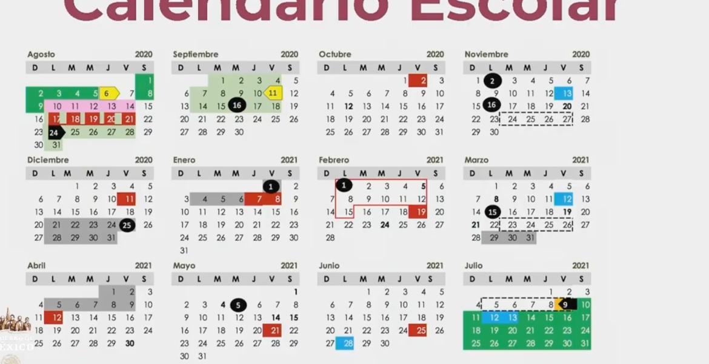 Éste es el calendario para el ciclo escolar 2020-2021
