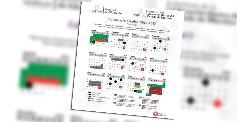Calendario. El ciclo lectivo 2016-2017 que definió el IEBEM.