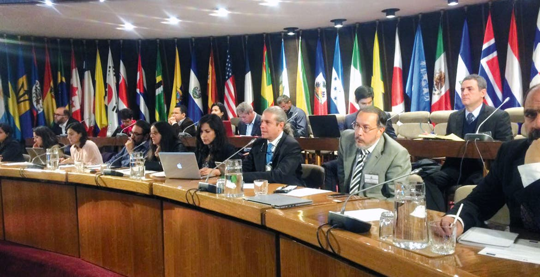 Foro. Topiltzin Contreras, secretario de Desarrollo Sustentable, acudió al encuentro organizado por la CEPAL y la ONU, en Chile.