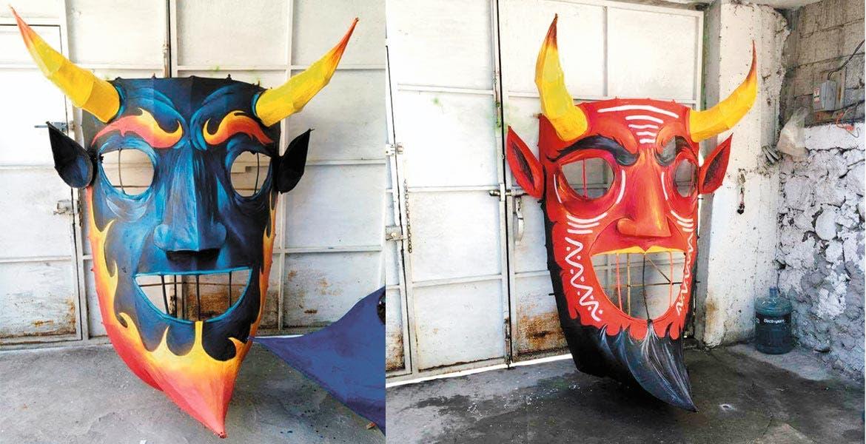 Belleza. Las autoridades locales adornarán parte de la calle Hidalgo con enormes máscaras representando a los tradicionales Judas de Semana Santa.