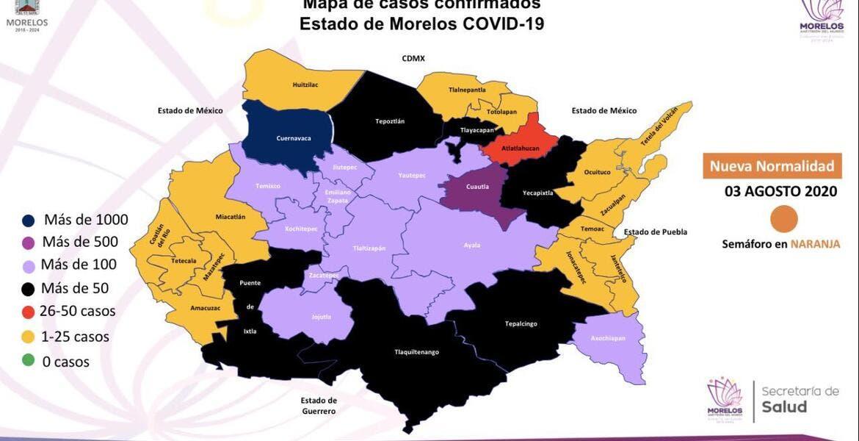 Disminuyen casos de COVID-19 en...