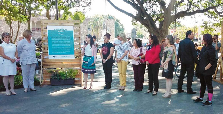 Fotos. Encabezada por la presidenta del DIF y la representante adjunta de Unicef, fue inaugurada la exposición que permanecerá el mes de diciembre.