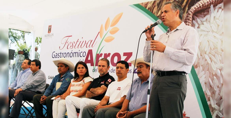 Celebración. Productores, autoridades estatales y diputados celebraron ayer por primera vez el Día Estatal del Arroz de Morelos, con un evento en el que mostraron diferentes platillos elaborados con este cereal.