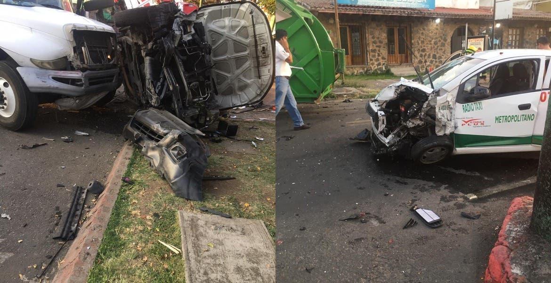 Conductor del taxi, al parecer ebrio, causante de accidente donde murió bombero de Cuernavaca