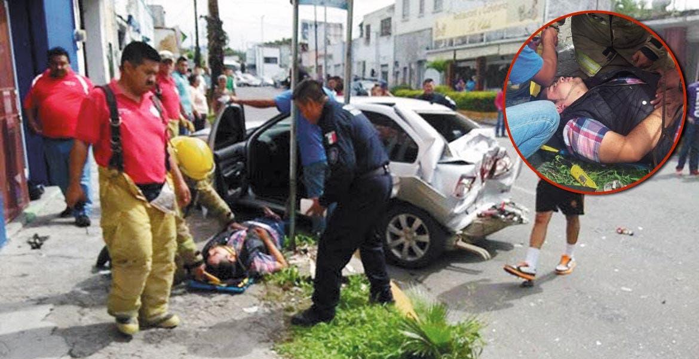 Accidente. Cinco hombres y tres mujeres resultaron lesionados, luego de que un Pullman impactara a cuatro vehículos.