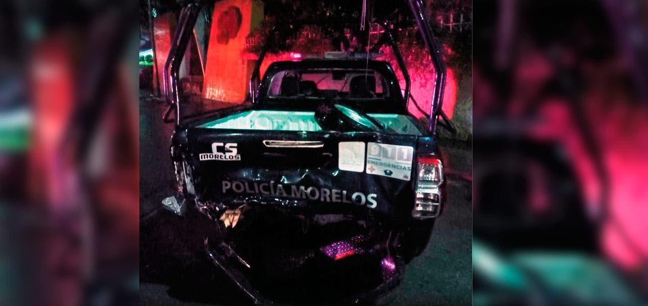 Choca camioneta contra patrulla municipal