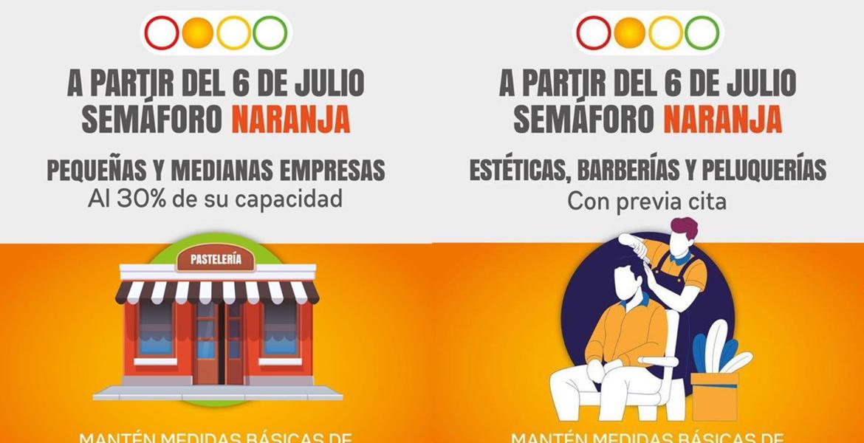 Así abrirán comercios y negocios este lunes por semáforo naranja en Morelos