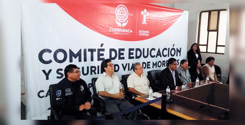Evento. Autoridades y organizaciones civiles presentaron el Comité Municipal para la Prevención de Accidentes, con el que buscan disminuir los percances en la capital de Morelos.