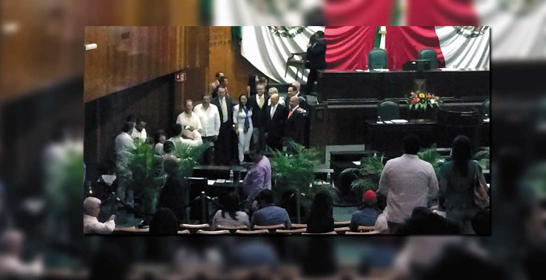 Presidentes. Representantes de 11 clubes de rotarios asistieron a la Sesión Solemne, en la que instituyeron su día.