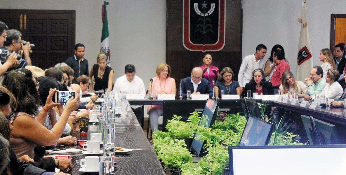 Evento. El gobernador Graco Ramírez informó de los protocolos y acciones realizadas para las mujeres víctimas de violencia, así como los resultados contra la alerta de género.