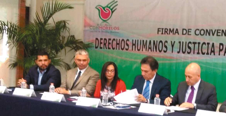 Acuerdo. La Comisión de Derechos Humanos del Estado de Morelos y el Tribunal Unitario de Justicia para Adolescentes colaborarán para inculcar respeto en los menores.