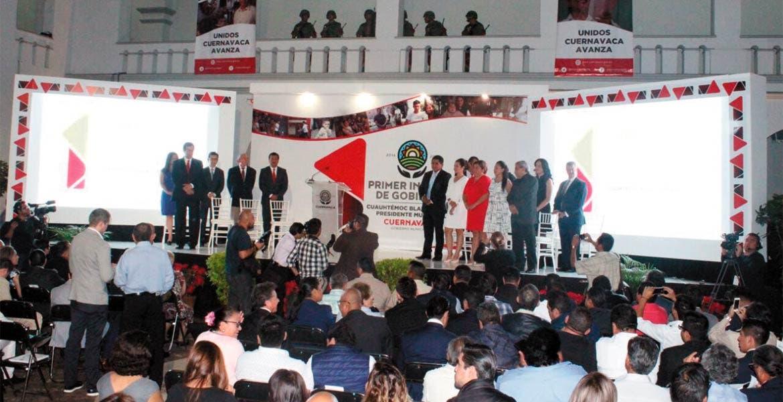 Ceremonia. Este martes, el alcalde Cuauhtémoc Blanco rindió su primer informe de gobierno.
