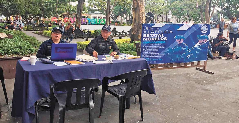 Convocan a ingresar a las fuerzas policiacas de Morelos