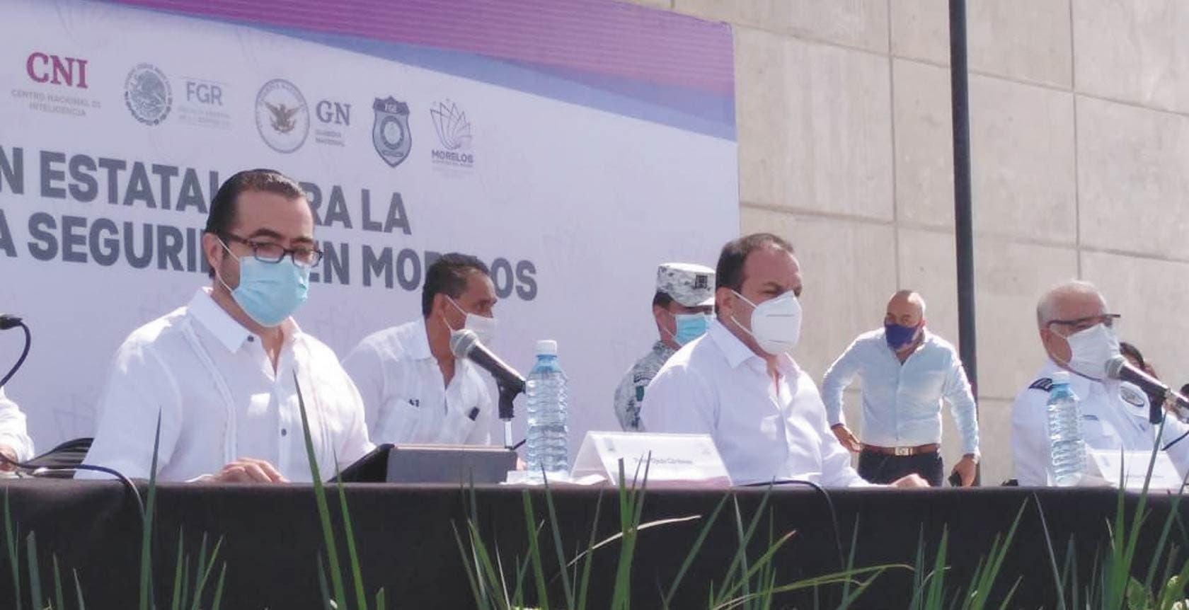 Da resultados combate frontal al crimen organizado en Morelos
