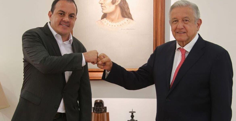 Tratan AMLO y Cuauhtémoc Blanco agenda económica y social de Morelos