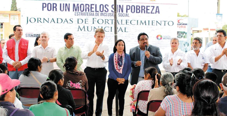 El programa. El alcalde Raúl Tadeo Nava participó en la jornada de fortalecimiento en Cuautla como parte de 'Morelos Sin Hambre'.