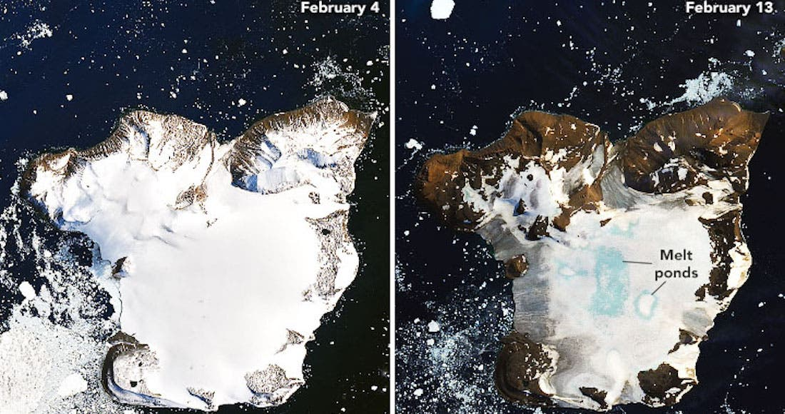 FOTOS de la NASA muestran cómo se aceleró el deshielo en la Antártida debido al fuerte calor