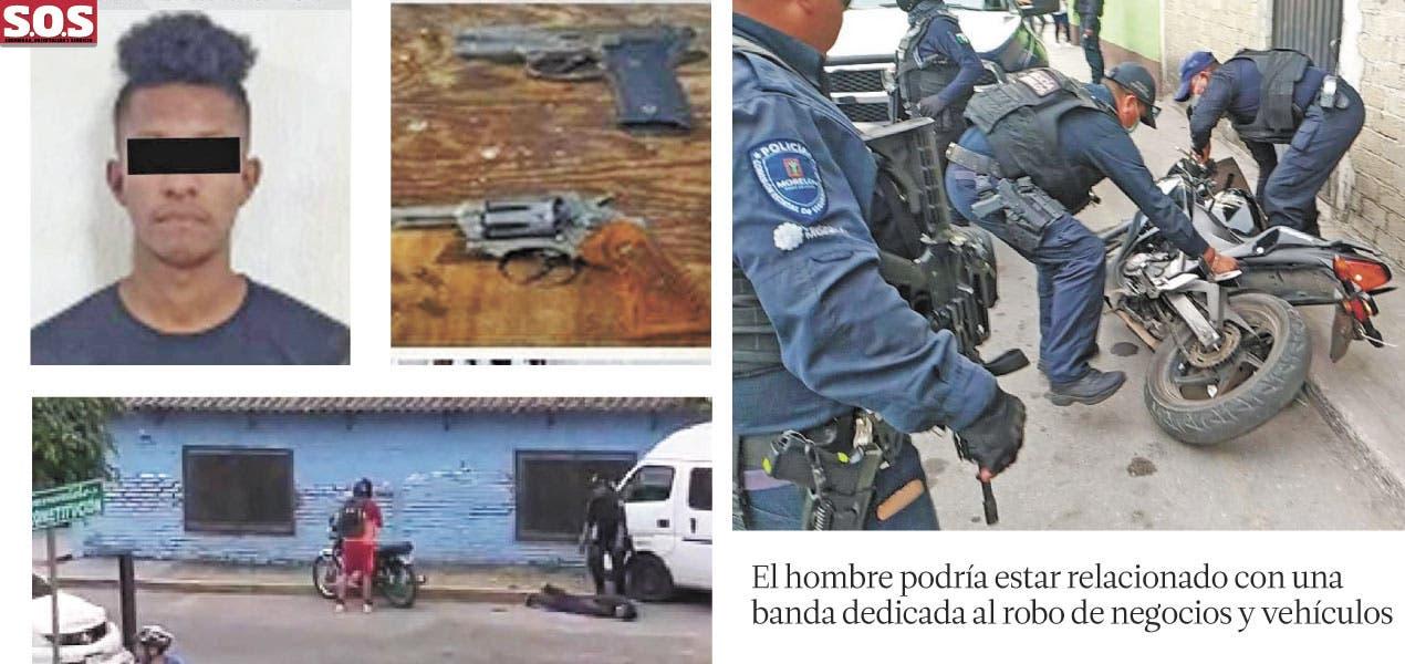 Traía droga, moto robada y una pistola en Jiutepec