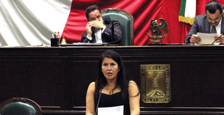 Hincapié. La diputada Hortencia Figueroa enfatizó que el uso de l recursos públicos debe ser transparentado.