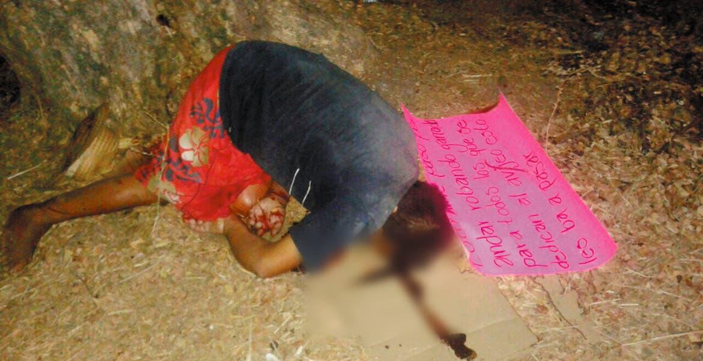 Crimen. Un hombre fue asesinado de un disparo en la cabeza y abandonado junto con un mensaje en donde lo acusan de robar ganado.
