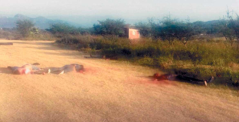 Cuatro hombres fueron degollados y abandonados en un camino de terracería de la colonia Miguel Hidalgo, del poblado de La Nopalera, en Yautepec