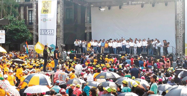Rumbo al 2018. El perredismo morelense mostró músculo ayer con sendos eventos en Cuernavaca y Cuautla