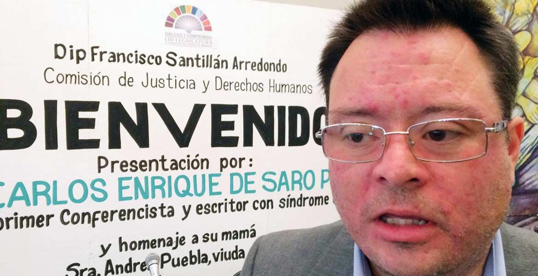 Impulso. Enrique de Saro hizo un llamado en el Congreso local para que gobierno y empresas contraten a personas con discapacidad.