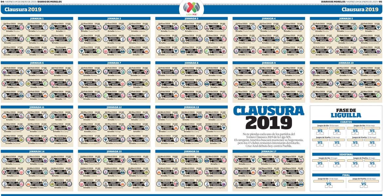 Futbol Calendario.Conoce El Calendario De Clausura Del Futbol Mexicano Diario De Morelos