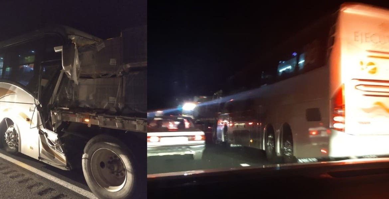 Dos muertos y 5 heridos por accidente de Pullman vs tráiler en la México-Cuernavaca