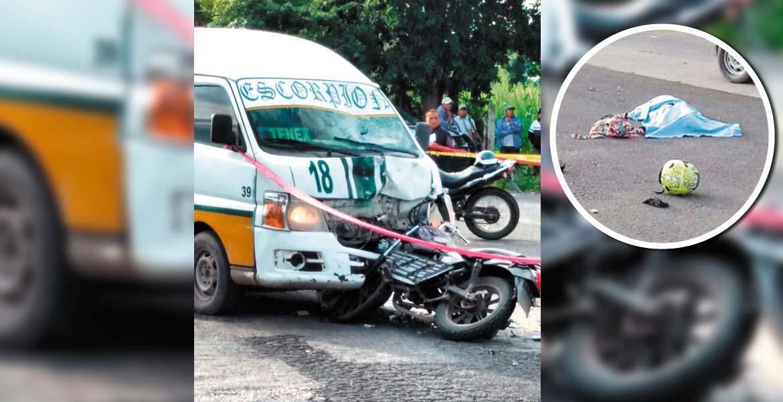 Deceso. Teresa murió al chocar de frente contra una Ruta 18 que presuntamente invadió carril, en la carretera que comunica la Abelardo Rodríguez con Tenextepango.