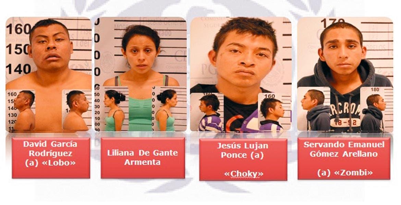La banda. Tres hombres y una mujer fueron sentenciados a 15 años de prisión, luego de que el primero de octubre del 2015 extorsionaran a un comerciante.
