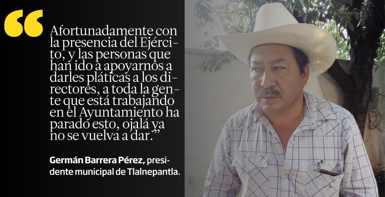 Germán Barrera Pérez, presidente municipal de Tlalnepantla.