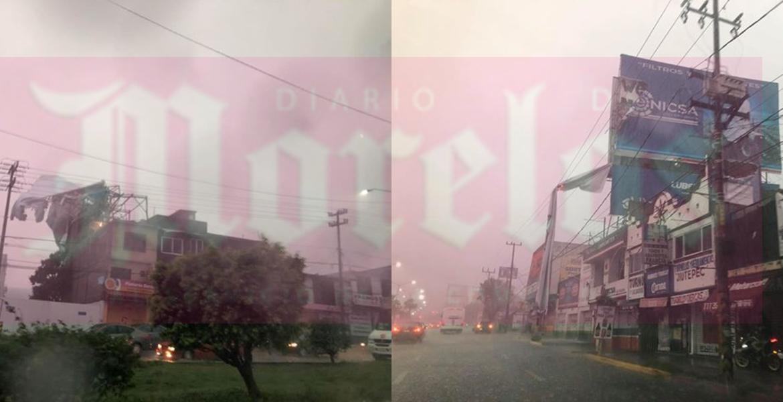 Reporta Jiutepec múltiples daños por las lluvias; caen 2 espectaculares
