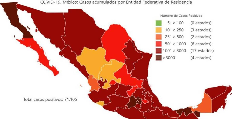 Casos de coronavirus en México del 26 de mayo de 2020