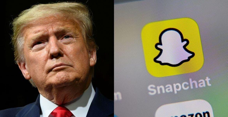 Por incitar a la 'violencia racial'Snapchat limita cuenta de Trump
