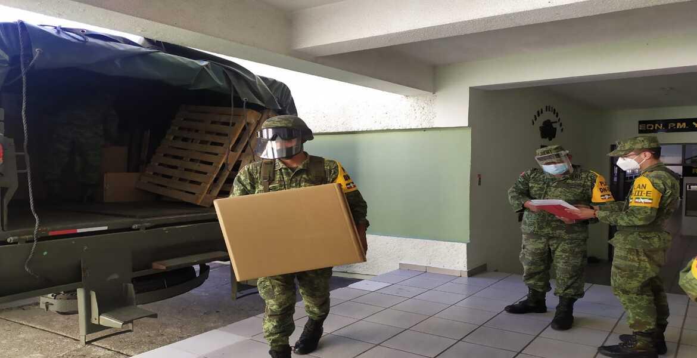 Medicamentos, insumos médicos y equipo de protección personal arriban a Morelos para combatir al COVID-19.