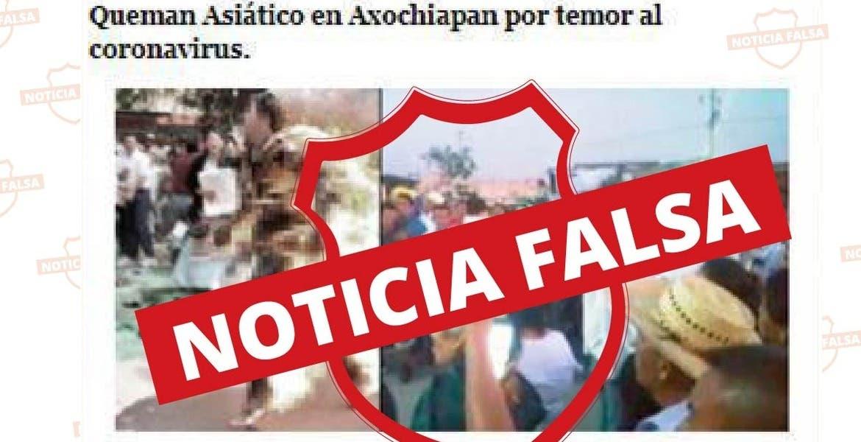 No, no quemaron a un asiático en Axochiapan; es noticia FALSA