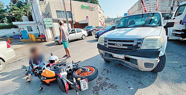 Arrollan a motociclista en Cuernavaca