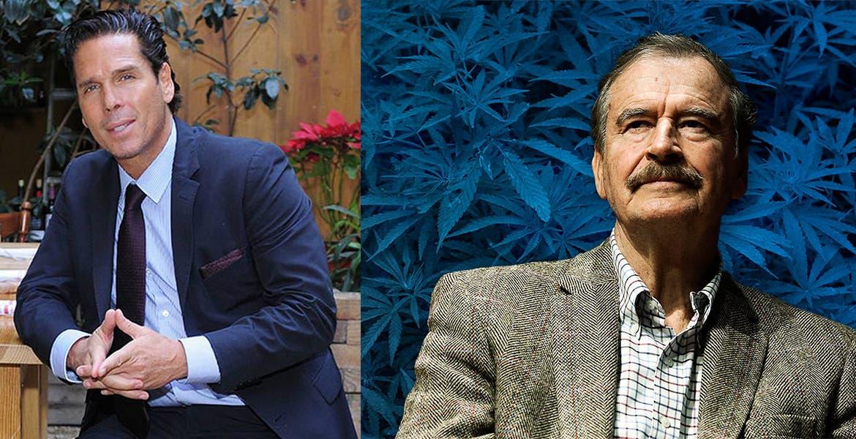Roberto Palazuelos y Vicente Fox formalizaron su alianza en el sector comercial de la marihuana