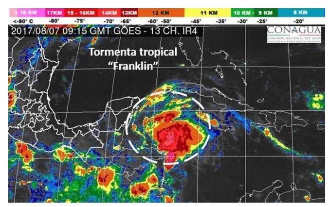 Causa 'Franklin' tormentas en Veracruz y Puebla