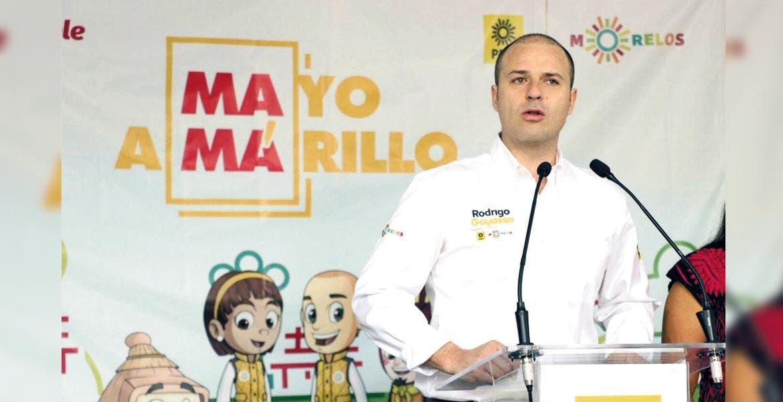 Actividades. Rodrigo Gayosso Cepeda, dirigente estatal del partido del sol azteca, durante el anuncio de la campaña.