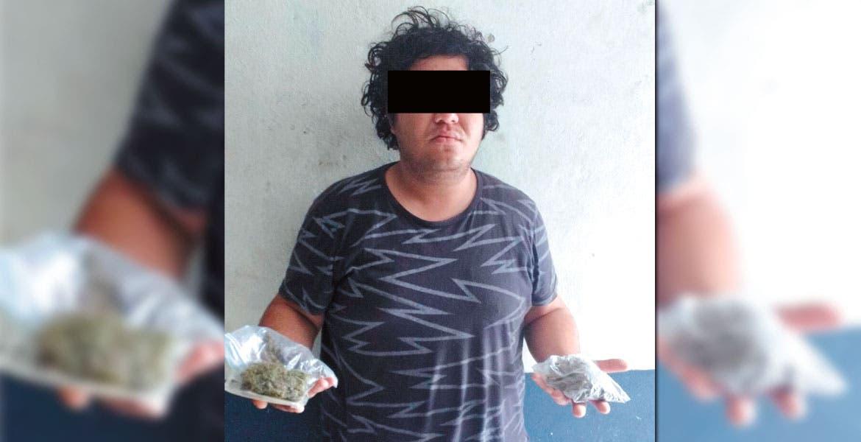 Detención. Miguel Ángel Tenorio, de 20 años, fue trasladado a las oficinas del Ministerio Público.