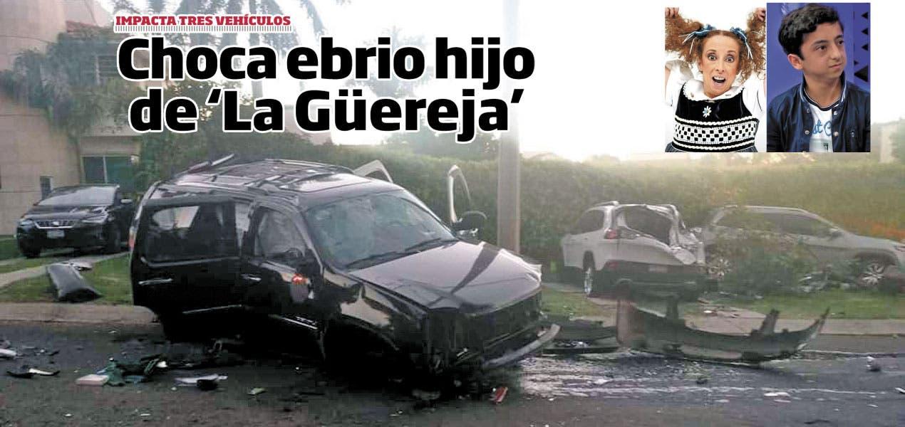 """Choca hijo de """"La Güereja""""; iba en estado de ebriedad"""