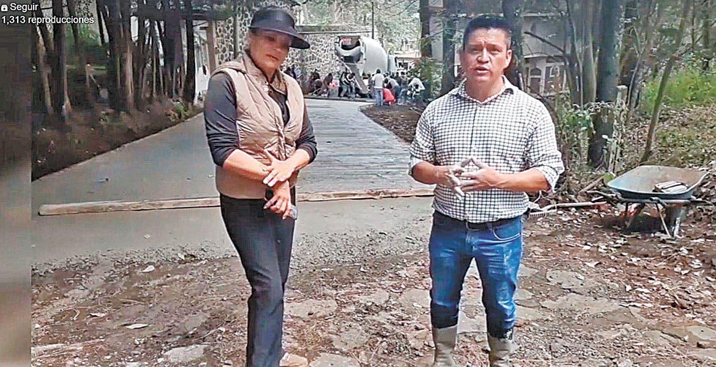 Rehabilitan una calle en comunidad de Huitzilac