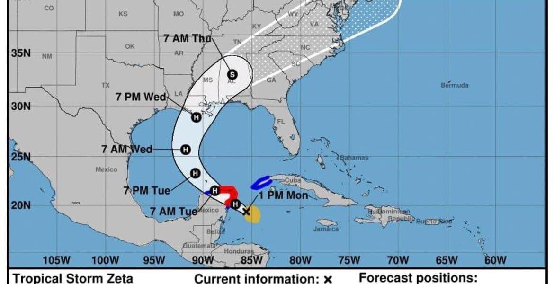En alerta Puerto Morelos por huracán Zeta; ya es categoría 1