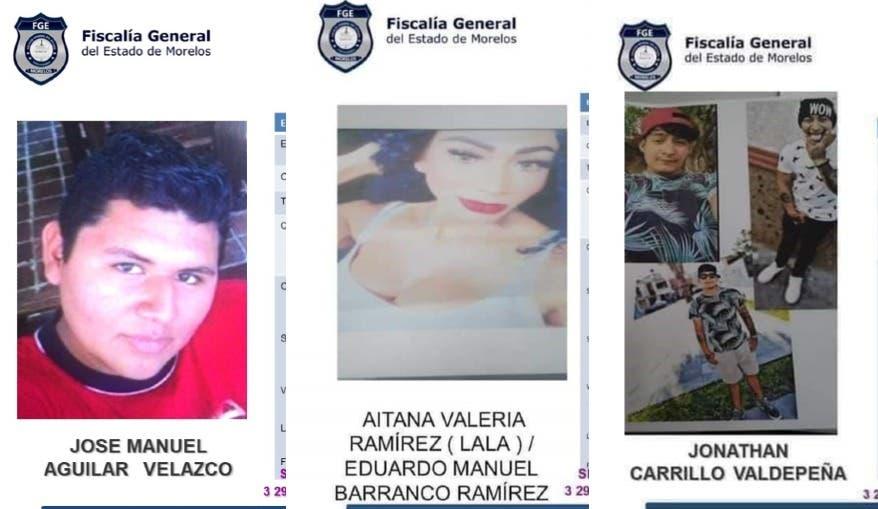Trasciende hallazgo sin vida de 3 jóvenes desaparecidos en Yautepec