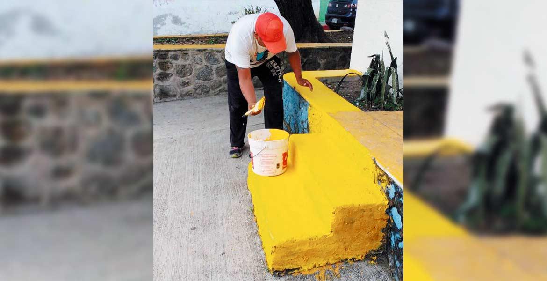 Labor. Autoridades de Cuernavaca buscan cambiar la imagen urbana de las colonias de la capital.