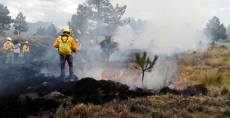 Alistan. La Conafor contrató 100 brigadistas para la temporada de incendios.