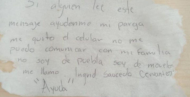 Con nota en el baño, joven de Morelos pide auxilio; su pareja la tiene secuestrada