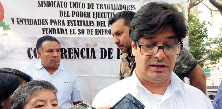 Postura. Daniel Hernán López, secretario general del Sindicato Único de Trabajadores del Poder Ejecutivo, aseguró que la propuesta pretende no lesionar los ingresos de los trabajadores